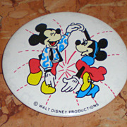 Vintage Disney Mickey & Minnie Mouse Button