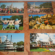 Disney: Lot of Unused Vintage Disneyland Postcards