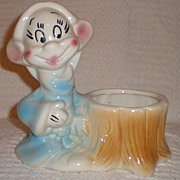 SOLD Disney Snow White Dopey Planter