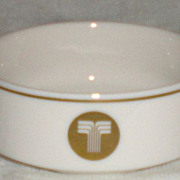 Vintage Transamerica Airlines Ceramic Bowl