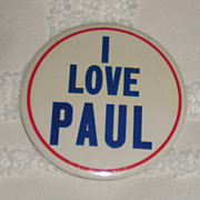 Original Beatles Memorabilia: 1964 I Love Paul Button