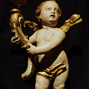 19th Century French Carved Wood Putti -MAGNIFICENT !