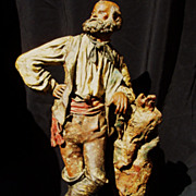 18th Century Spanish Colonial  Creche Figure Of A Gaucho