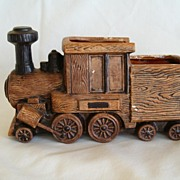REDUCED Vintage Napcoware Train Engine Ceramic Planter