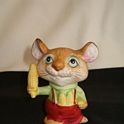 Sweet Little Homco Figurine, Mouse With Ear of Corn, #5601