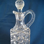 REDUCED EAPG Cruet With Deep Patterned Glass With Stopper
