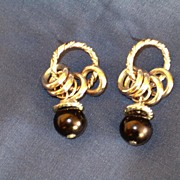 Rings & Hoops Earrings, Silver Tone, Pierced