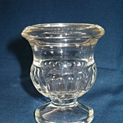 EAPG Footed Toothpick Holder or Mini Vase, Classic Pressed Pattern
