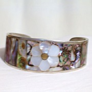 Abalone and MOP Cuff Bracelet,