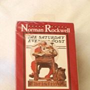 Norman Rockwell Playing Cards, Sealed NRFB, US Playing Card Company, Saturday Evening Post Chr