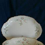 REDUCED Homer Laughlin Platter and Serving Bowl Set, Lovely!
