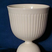 REDUCED Wedgwood Creamware Double Egg Cup, Edme Pattern, Barlaston England