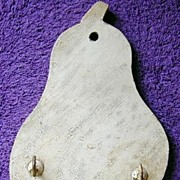 Vintage Key Hanger in Honest Old Paint - Pear Figural Shape - FREE Shipping