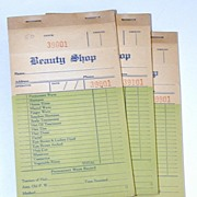 Early Beauty Shop Receipts, c. 1910-20