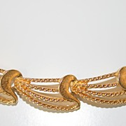 Monet Vintage Goldtoned Link Necklace