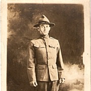 World War I Real Photo Post Card � Soldier