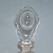 Vintage Tall Cut Glass Perfume Bottle