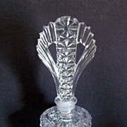 Fancy Cut Glass Art Deco Perfume Bottle