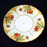 Hand Painted Jean Pouyat Limoges France Cherries Plate