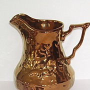 Wade England Copper Luster Pitcher Running Deer