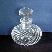 Vintage Swirled Glass Perfume Bottle