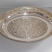 Ornate Silver Plate Serving Tray