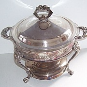 Silver Plate Holder Fire King Glass Casserole