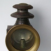Antique Carriage Buggy Brass and Metal Lantern Lamp
