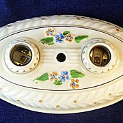 Vintage Porcelier Double Light Oval Ceiling  or Wall Sconce