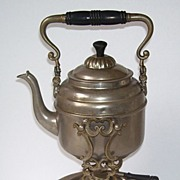 Metal Swinging Spirits Teapot  Coffee Pot and  Holder with Warmer