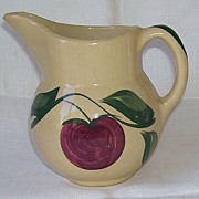 Watt  Apple Three Leaf Pottery Pitcher