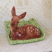 Shawnee Laying Fawn in Green Planter