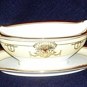 Hand Painted Noritake China Japan Dominant Gravy Boat