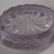 Victorian Glass Oval Salt Cellar or Dip