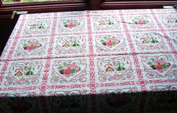 Vintage Scandinavian Cotton Table Cloth Tablecloth