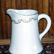 Vintage White Ironstone Milk Pitcher