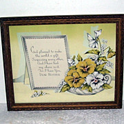 Dear Mother Framed Print Verse and Flowers