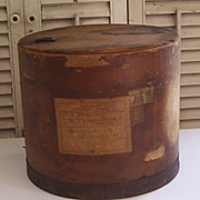 Antique Eastman Kodak Photographic Material Round Wood Box