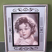 Shirley Temple Framed with Glass  Print 1940s Cool!