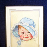 Charming Illustrated Framed Print Baby by Maud Tousey Fangel