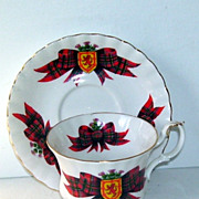 Royal Albert Tartan Red Plaid Scotland Royal Stewart Tea Cup and Saucer