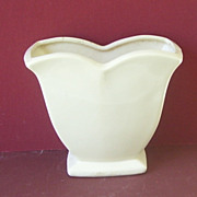 Vintage Ironstone White McCoy Pottery Vase