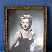 Vintage Photo Print Actress Betty Grable