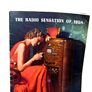 1938 The Radio Sensation Montgomery Wards  Magazine