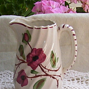 SOLD Blue Ridge Southern Potteries Tralee Rose Milk Pitcher