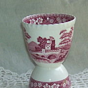 Copeland Spode's Tower Red and White Double Egg Cup