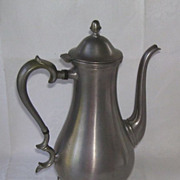 Antique Elegant Graceful Pewter Three Footed Tea Pot