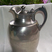 1909 Manning & Bowman Co. HotaKold Pewter Pot.