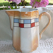 German Luster Porcelain Milk Pitcher