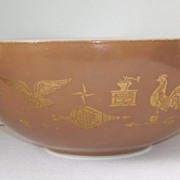 Pyrex Early Americana Cinderella Brown and White Mixing Bowl